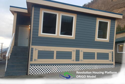Revolution Home is a portable housing option to build microgrids and provide energy anywhere.